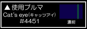 Cat's eye(キャッツアイ)#4451濃紺+緑ライン<br />